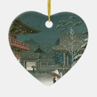 Ornement Cœur En Céramique Art de Shin Hanga de vente de tombeau de Koitsu