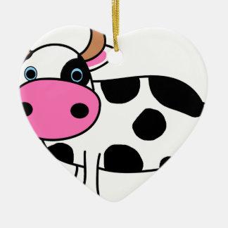 Ornement Cœur En Céramique art de vache