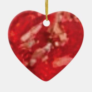 Ornement Cœur En Céramique art rouge de gelée
