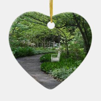 Ornement Cœur En Céramique Asile de la guérison