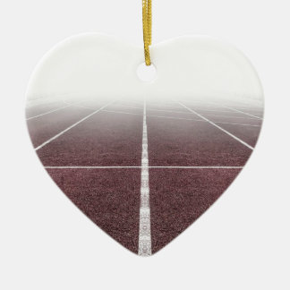 Ornement Cœur En Céramique Athlétisme