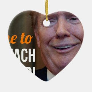 Ornement Cœur En Céramique Attaquez le Dotard Donald Trump