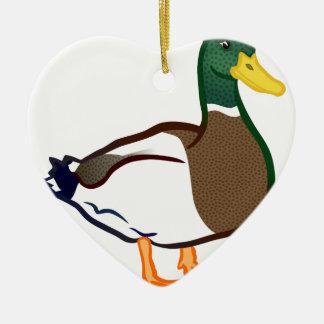 Ornement Cœur En Céramique Attente de canard