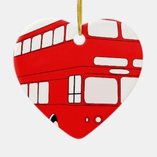 Ornement Cœur En Céramique autobus