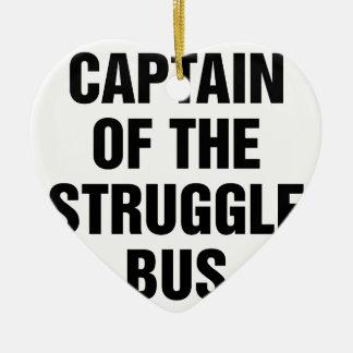 Ornement Cœur En Céramique Autobus de lutte