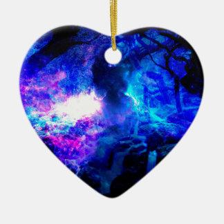 Ornement Cœur En Céramique Automnes d'Amorem Amisi Lilannah d'annonce