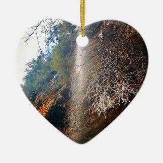 Ornement Cœur En Céramique Automnes de chuchotement, collines Ohio de Hocking
