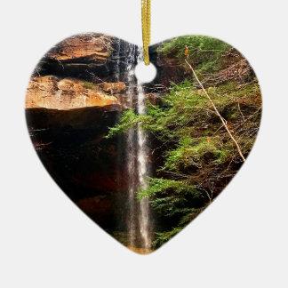 Ornement Cœur En Céramique Automnes de Yahoo, grand South Fork Kentucky