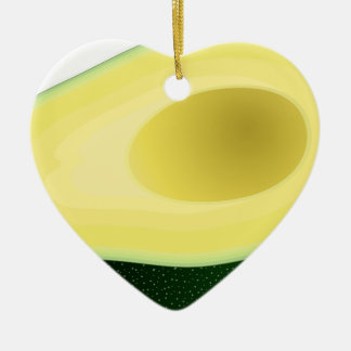 Ornement Cœur En Céramique Avocat