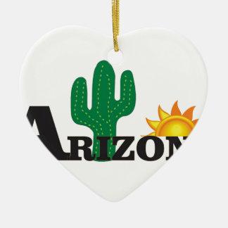 Ornement Cœur En Céramique Az de cactus