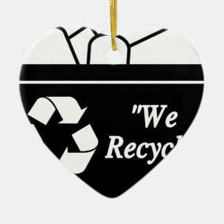 Ornement Cœur En Céramique Bac de recyclage