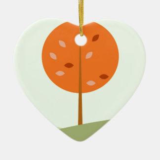 Ornement Cœur En Céramique Badine le T-shirt avec l'orange d'arbre