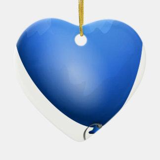 Ornement Cœur En Céramique Ballon bleu