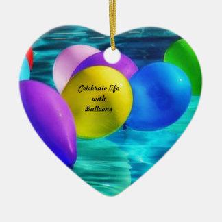 Ornement Cœur En Céramique ballons