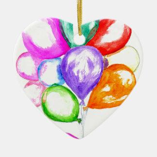 Ornement Cœur En Céramique Ballons colorés gonflables