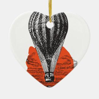 Ornement Cœur En Céramique Balloon