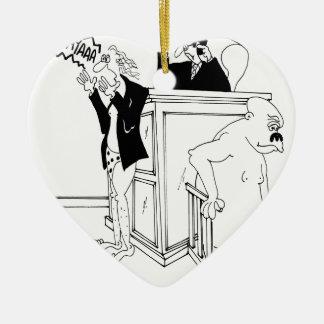 Ornement Cœur En Céramique Bande dessinée 5490 de cour