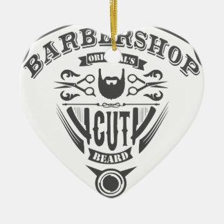 Ornement Cœur En Céramique Barbershop originals vintage