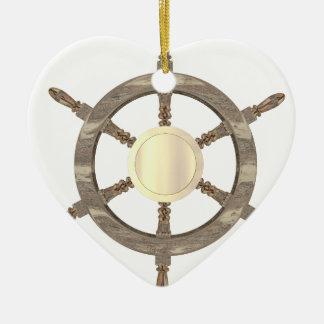 Ornement Cœur En Céramique Barre maritime