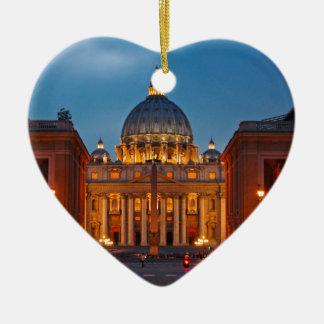 Ornement Cœur En Céramique Basilique Saint-Pierre dans le Rome - l'Italie