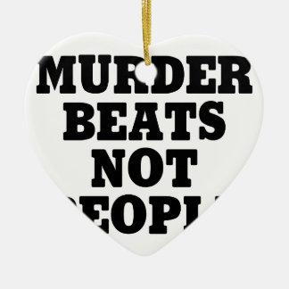 Ornement Cœur En Céramique Battements de meurtre