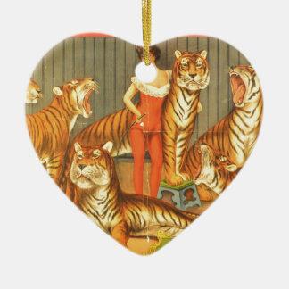 Ornement Cœur En Céramique Beaucoup choient des tigres