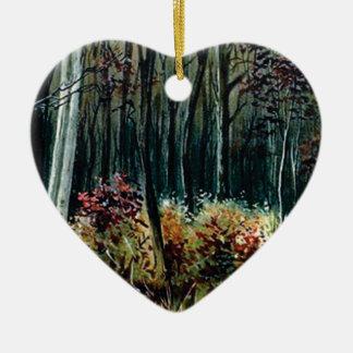 Ornement Cœur En Céramique beauté dans les bois