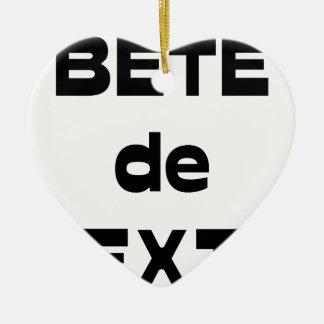 Ornement Cœur En Céramique Bête de Texte - Jeux de Mots - Francois Ville