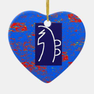 Ornement Cœur En Céramique Bien-être curatif de santé de MODÈLE de symboles