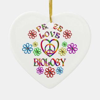 Ornement Cœur En Céramique Biologie d'amour de paix