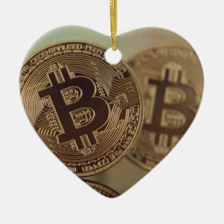 Ornement Cœur En Céramique Bitcoin 17