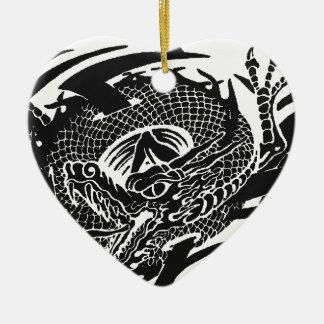 Ornement Cœur En Céramique Black Dragon 2.gif