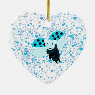 Ornement Cœur En Céramique blue coccicat coeur.png