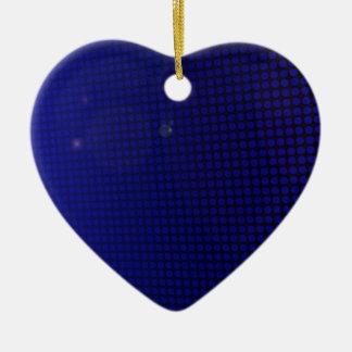 Ornement Cœur En Céramique blue halo