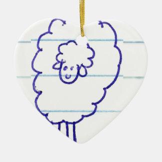Ornement Cœur En Céramique Bob les moutons seuls