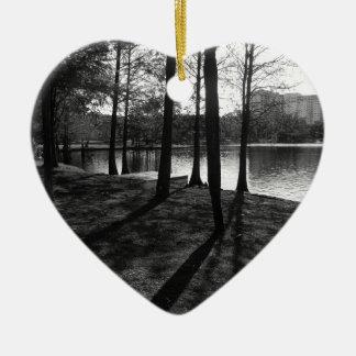 Ornement Cœur En Céramique Bois dans la ville