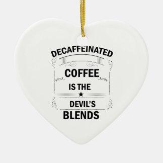 Ornement Cœur En Céramique boisson drôle de café