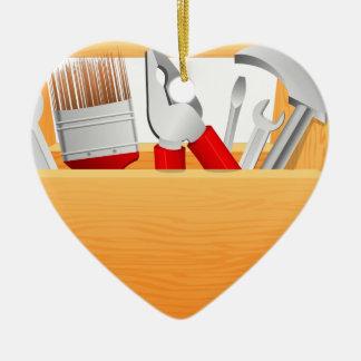 Ornement Cœur En Céramique Boîte à outils