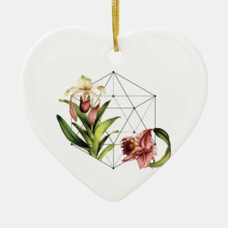 Ornement Cœur En Céramique Botanique sacré