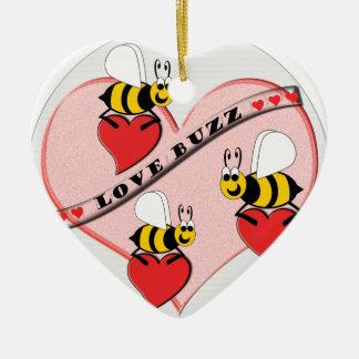 Ornement Cœur En Céramique Bourdonnement d'amour