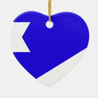 Ornement Cœur En Céramique Branch_Davidian_flag