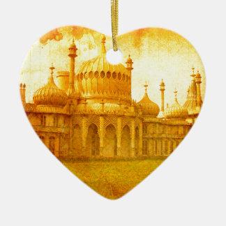 Ornement Cœur En Céramique Brighton Pavillion royal
