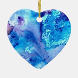 Ornement Cœur En Céramique Brume pourpre Luna #5