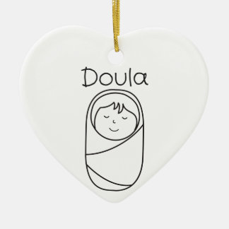 Ornement Cœur En Céramique Cadeau de Doula et de Doula de bébé