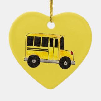 Ornement Cœur En Céramique Cadeau jaune de formation de pédagogique de