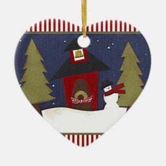 Ornement Cœur En Céramique Cadeau personnalisé de professeur