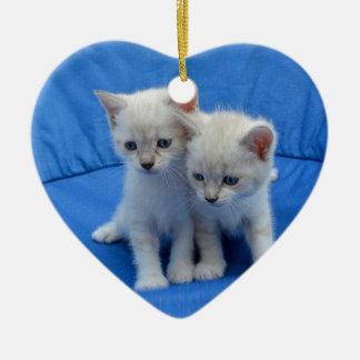 Ornement Cœur En Céramique Cadeaux de chat