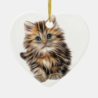 Ornement Cœur En Céramique Cadeaux de chaton