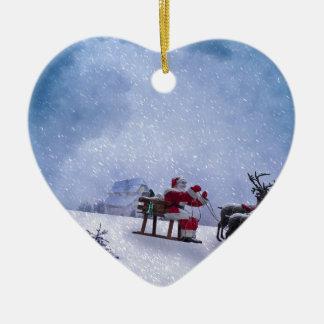 Ornement Cœur En Céramique Cadeaux de Noël