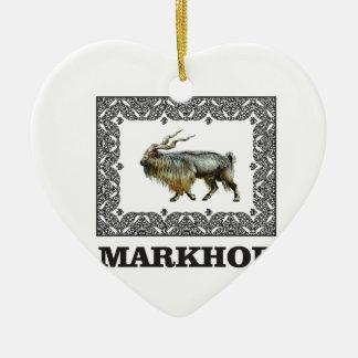 Ornement Cœur En Céramique Cadre fleuri de Markhor